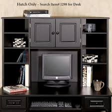Corner Computer Desk With Hutch by Furniture Black Computer In Corner Desk With Hutch
