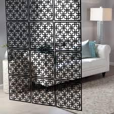 condo room divider interwoven decorative panel set of 4 16w