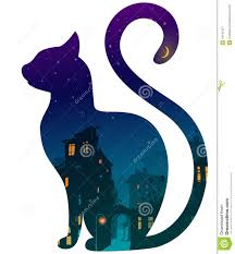 Cat Silhouette Halloween Cat Royalty Free Stock Photography Image 34161957