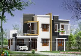 modern home plan box type modern house plan kerala home design floor plans building