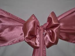 Pink Chair Sashes Wedding Chair Cover Hire