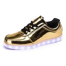 gold light up sneakers amazon com annabelz led shoes usb charging light up glow shoes men