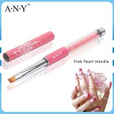 any nail design care pink pearl handle nail art one stroke brush