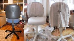 linen desk chair cozy cottage slipcovers home linen office chair slipcover