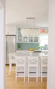 island kitchen kitchen white turquoise accents