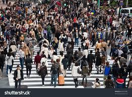 November Tokyo by Tokyo Japan November 20 Unidentified Pedestrians Stock Photo