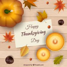 wooden background with thanksgiving note vector free