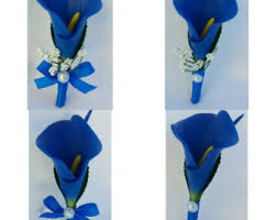 royal blue boutonniere blue boutonniere royal blue wedding boutonnieres blue corsage