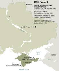 Map Ukraine 300 Years Of Embattled Crimea History In 6 Maps