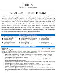 controller resume example financial u0026 operations executive