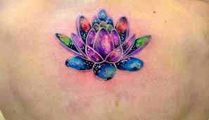 rainbow colors lotus watercolor tattoo tattoos photos