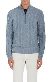 light blue cable knit sweater loro piana cable knit cashmere half zip sweater light blue men
