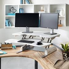 corner standing desk ideas and how to make in cubicle modern desks