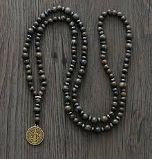 mens rosary mens necklace quality with jesus pendant mens rosary
