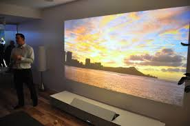 ultra short throw projector home theater sony plans 4k short throw laser projector pcworld