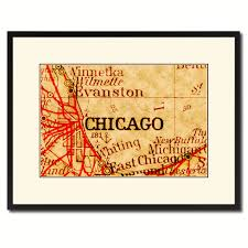 home decor gift items chicago illinois vintage antique map wall art home decor gift