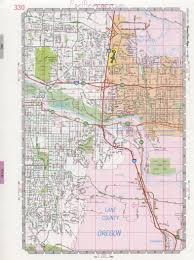 Highway Map Of Arizona by Eugene City Road Map