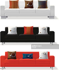 Modern Sofa by Modern Sofa And Throw Pillows Vector Art Getty Images
