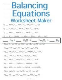 balancing chemical equations worksheet see balancing equations