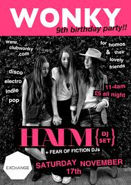 haim poster wonky bristol s best running alternative for