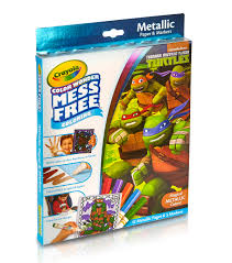 crayola color teenage mutant ninja turtles metallic