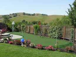 Valley Green Landscaping by Synthetic Turf Sky Valley California Putting Green Backyard