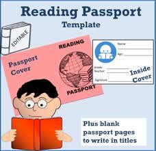 reading passport template by spanishplans teachers pay teachers