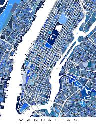 Soho Nyc Map A Manhattan New York City New York Map Art Print This Nyc Map
