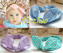 baby headwrap baby girl rabbit ear elastic headband baby infant bow hair bands