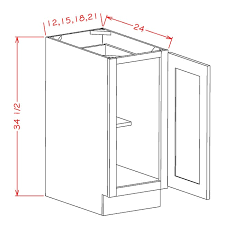 kitchen cabinet height b12fh shaker gray base height single door cabinet rta