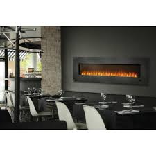 Fancy Fireplace by Chic Electric Napoleon Fireplace On Gray Wall With Dining Table