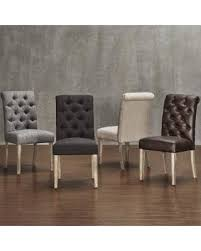 Light Dining Chairs Here S A Great Deal On Avingdon Tufted Rolled Back Light