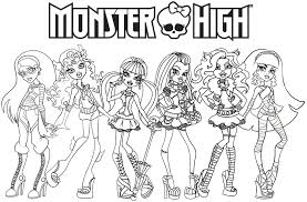 High Characters Coloring Pages Monster High Coloring Pages by High Characters Coloring Pages