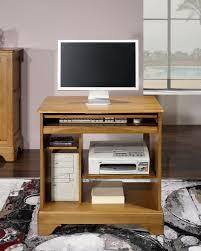 bureau ordinateur bois petit bureau informatique en chêne de style louis philippe meuble