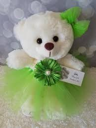 flower girl teddy gift flower girl gift apple green tutu teddy the lovely gift co
