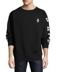 marcelo burlon rey numbers print sweatshirt black