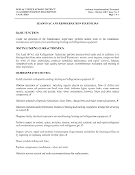 hvac technician resume resume badak