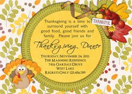 thanksgiving dinner invite wording cimvitation