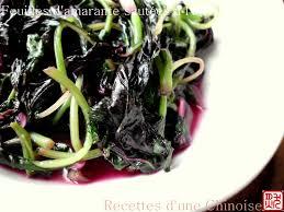 cuisiner amarante recettes d une chinoise feuilles d amarante sautées a l ail 蒜茸