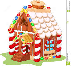 cartoon gingerbread house stock vector image 55851837