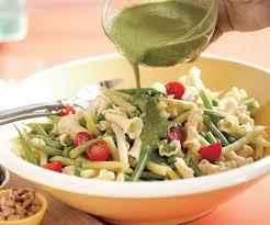 pasta salad pesto summer pasta salad with pesto vinaigrette recipe finecooking