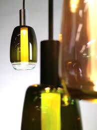 blown glass pendant lamps of repurposed materials digsdigs