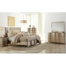 Home Bedroom Furniture Serendipity Bedroom Bed Dresser U0026 Mirror Queen Champagne