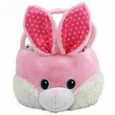 bunny basket easter pink bunny basket walmart
