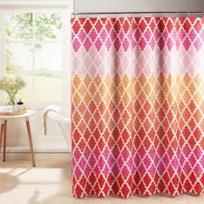 Pink And Orange Curtains Buy Pink Shower Curtain From Bed Bath Beyond