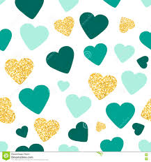 wallpaper glitter pattern seamless pattern background with gold glitter and green hearts love