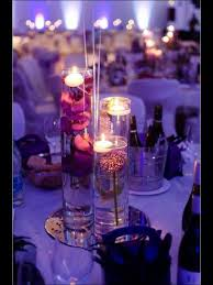 Vases With Flowers And Floating Candles Trio Cylinder Vase With Submerged Flowers And Floating Candles
