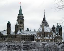 Canadian Houses Parliament Hill In The Snow The Canadian Houses Of Parliament
