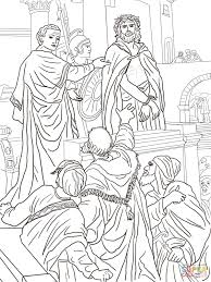 jesus before pilate coloring page free printable coloring pages