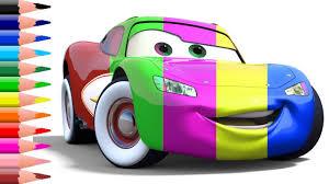 draw u0026 color cars 3 lightning mcqueen kids drawing